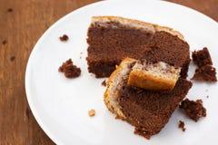 Brownie Cheese Cake Stock Photos