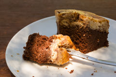 Brownie Cheese Cake Royalty Free Stock Photography