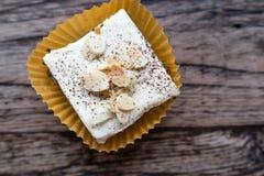 Brownie Cheese kaka Fotografering för Bildbyråer