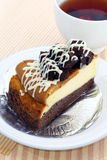 Brownie cheesecake. Royalty Free Stock Image