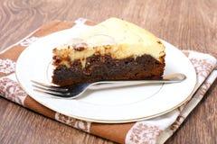 Brownie cheesecake Στοκ εικόνα με δικαίωμα ελεύθερης χρήσης