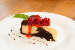 Brownie cheesecake Stock Photography