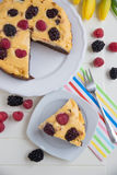 Brownie Cheesecake Stock Images