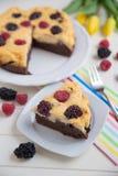 Brownie Cheesecake Royalty Free Stock Image
