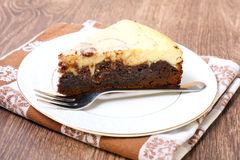 Brownie cheesecake Royalty Free Stock Image