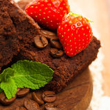 Brownie chocolate cake Royalty Free Stock Photo
