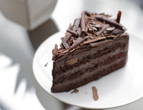 Brownie chocolate cake Royalty Free Stock Images