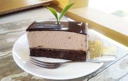 Brownie Chocolate Cream Cake Royalty Free Stock Image