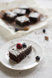 Brownie. Chocolate delicious french dessert Royalty Free Stock Photos