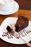 Brownie with coffee Royalty Free Stock Image