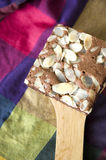 Brownie on colorful background Royalty Free Stock Images