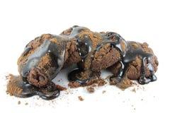 Brownie con el chocolate Imagen de archivo