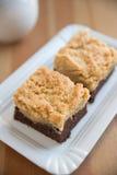 Brownie con los cacahuetes Fotos de archivo