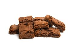 brownie cookie isolated Stock Images
