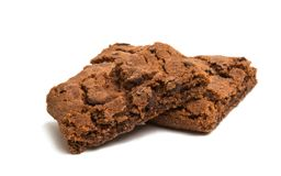 brownie cookie isolated Stock Photography