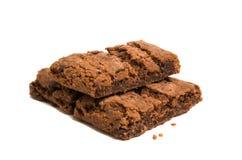 Brownie Cookie isolou-se Imagens de Stock