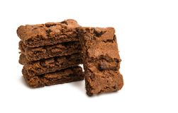 Brownie Cookie isolou-se Fotos de Stock Royalty Free