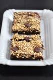 Brownie crujientes del cacahuete Imágenes de archivo libres de regalías