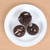 Brownie cupcake Stock Photography