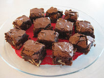 'brownie' d'écrou de chocolat Image libre de droits