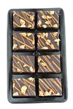 'brownie' d'isolement sur le blanc Images stock