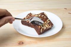 Brownie da amêndoa friável Imagem de Stock