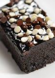 Brownie with dark and white chocolate Stock Photo