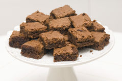 'brownie' de chocolat Images stock