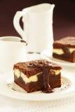'brownie' de chocolat photographie stock libre de droits