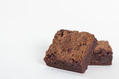 'brownie' de chocolat Images libres de droits