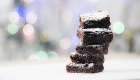 'brownie' de chocolat Photos libres de droits