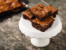 'brownie' de chocolat Images stock