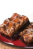 'brownie' de chocolat Photo libre de droits