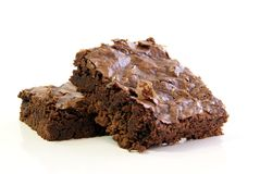 'brownie' de chocolat photo libre de droits