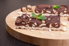 'brownie' de chocolat avec des arachides Photo libre de droits