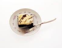'brownie' de chocolat givré photographie stock libre de droits