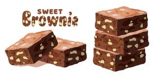 'brownie' de chocolat de vecteur illustration libre de droits