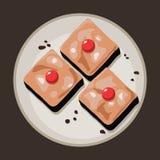 'brownie' de chocolat de vecteur illustration stock