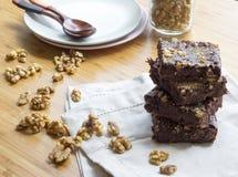 Brownie de Coco Vegano Stock Image