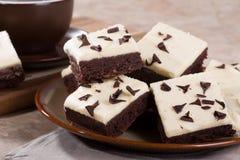 'brownie' de fondant de chocolat Photo stock
