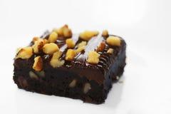 'brownie' de fondant de chocolat Photos stock