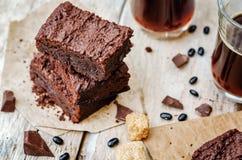 'brownie' de haricot noir Image libre de droits