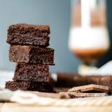 Brownie de la torta de Chokolate Imagen de archivo libre de regalías
