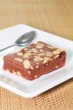 Brownie de Macademia Imagenes de archivo
