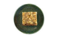 Brownie de Maccedamia Imagens de Stock Royalty Free