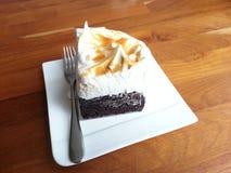 Brownie de Merigue del caramelo Fotografía de archivo libre de regalías