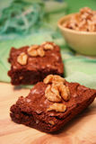 'brownie' de noix Photo stock