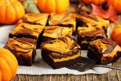 'brownie' de potiron Images libres de droits