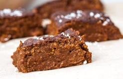 'brownie' de vegan de potiron avec du chocolat Image libre de droits