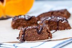 'brownie' de vegan de potiron avec du chocolat Photo libre de droits